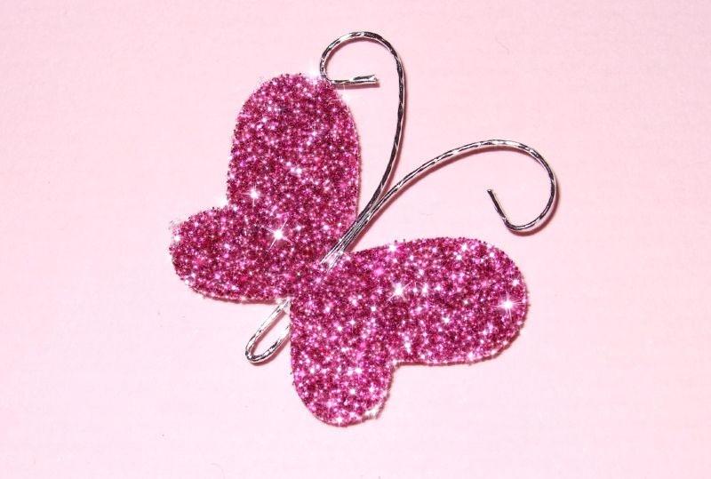 Glitter Butterflies Pink